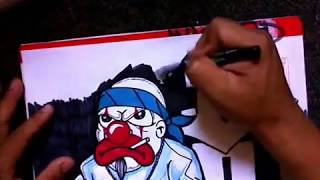 drawing a gangsta Clown (speed drawing) by WIZARD