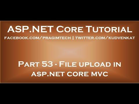 File upload in asp net core mvc