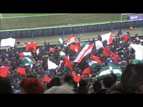 Feyenoord - Ajax 4-2 met guidetti die 3x scoorden.