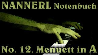 ANONYMOUS: Menuett in A major (Nannerl Notenbuch No. 12)
