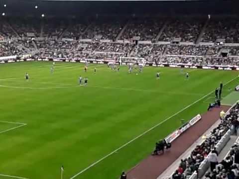 Newcastle United v Tottenham 16/10/2011 Shola Ameobi Goal