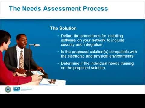 CAP Webinar: The Needs Assessment Process