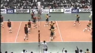 黒鷲旗 第37回(1988年)全日本バレーボール男子 決勝 新日鉄vs法政大学 第2セット