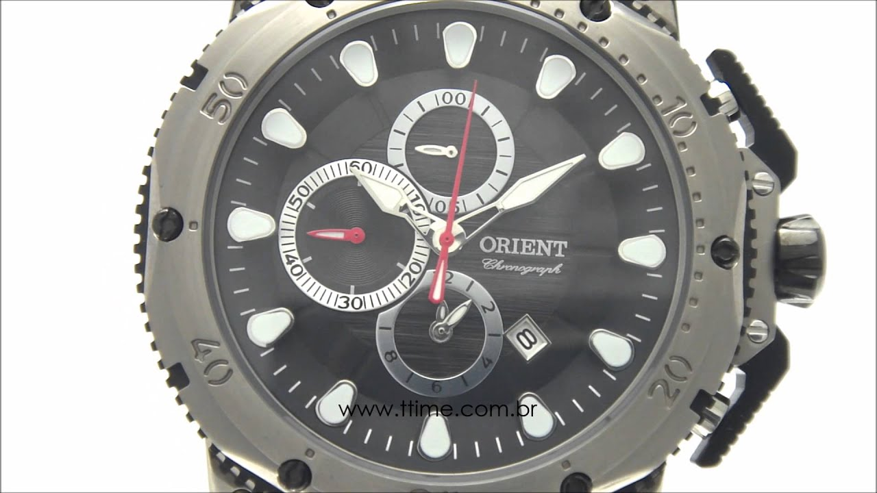 93790cd5c85 Relógio Masculino Orient Titânio MBTPC005 P1PX - YouTube