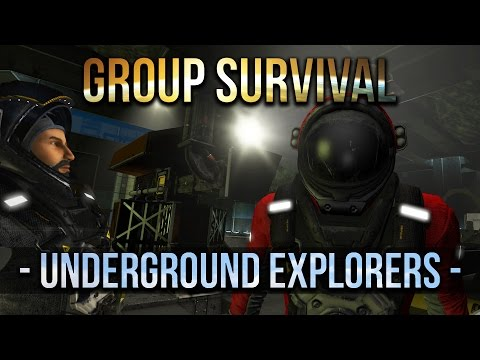 Space Engineers - Underground  Explorers - Group Survival -