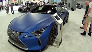 2018 Lexus LC500 Sports Coupe Supercar, Matte Blue, at Miami Beach Auto Show
