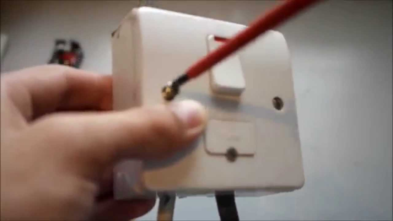 How To Wire An Fcu Fused Connection Unit Youtube Wiring A Wall Light Ing Uk Including