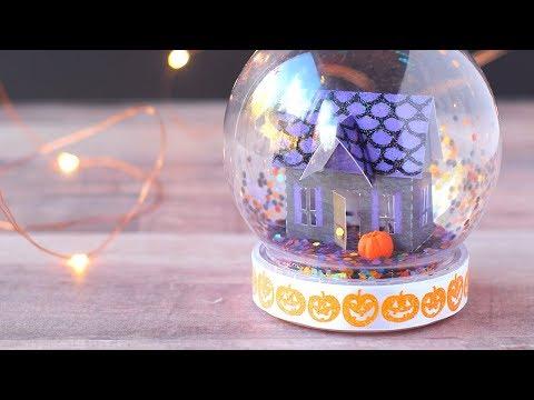 DIY Halloween Snow Globe (No Water) Tutorial + Free Printable!