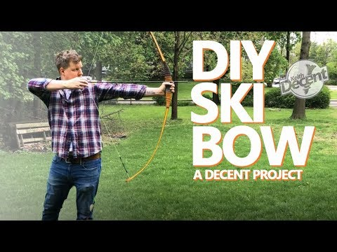 SKIBOW - DIY Archery Bow Made From a Ski - a Decent Project