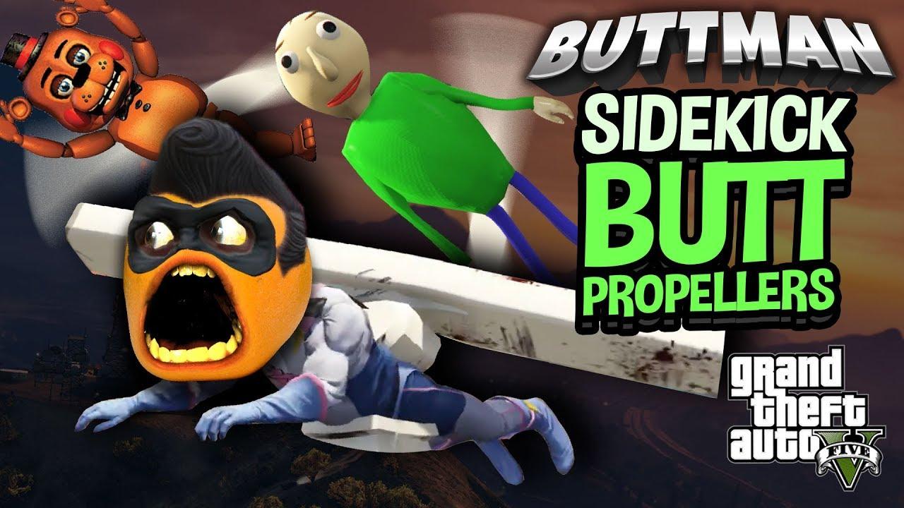 Buttman Vacation adventures of buttman #38 - sidekick butt propellers!!!