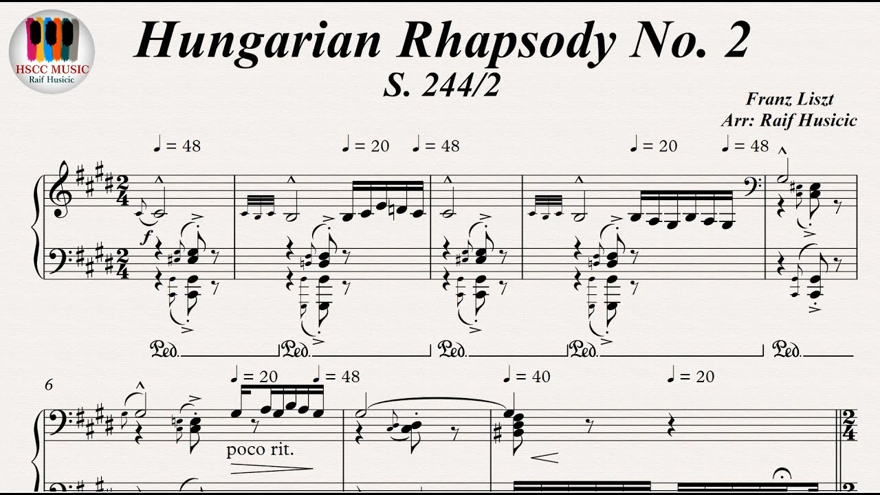 musical analysis of hungarian rhapsody no 2 Watch the video for hungarian rhapsody no 2 from franz liszt's the very best of liszt for free, and see the artwork, lyrics and similar artists.