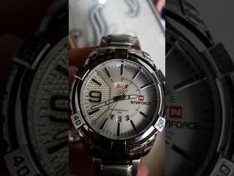 5c7f24ca769 Relógio naviforce prata 9117 gearbest. LC IMPORT S