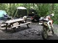 Riding And Camping: Taskers Gap, Little Fort Campground #dirtbike #campground #motorcycle #enduro