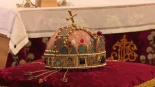 A Szent Korona hiteles másolata Pusztasomorján - 2016.08.14.