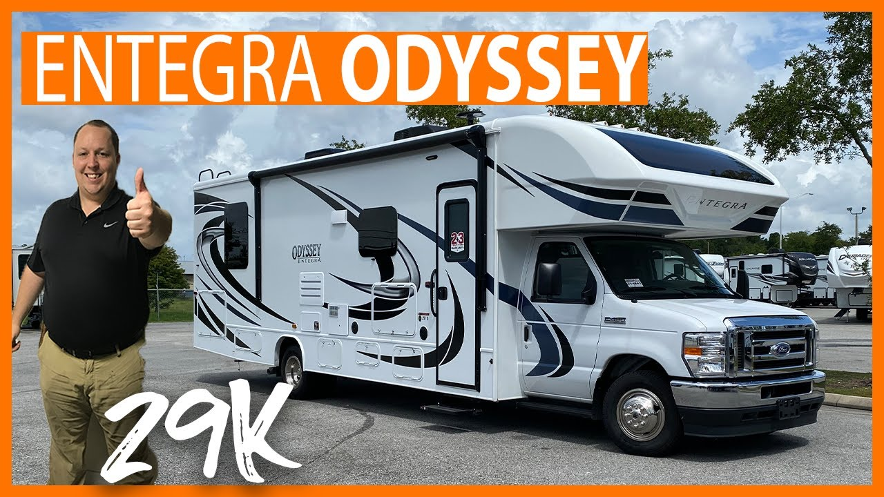 This Entegra Odyssey have AMAZING Storage for a Class C motorhome