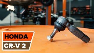 Cómo y cuándo cambiar Rótula barra de acoplamiento HONDA CR-V II (RD_): vídeo tutorial