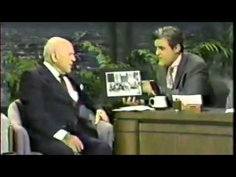 Jay Leno chats to 100 year old Laurel & Hardy Producer Hal Roach - 1992