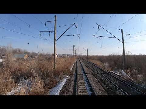Поезда в кабине Вл80с 2595 Станция Шамалган Казахстан Алматы