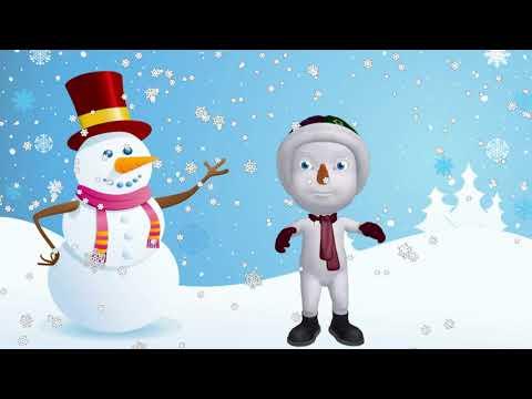 Веселые снеговики танцуют Новогодний футаж бесплатно