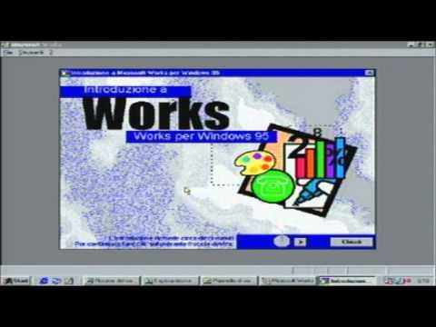 microsoft works 4.0 [rarità italiana] DEMO VIDEO
