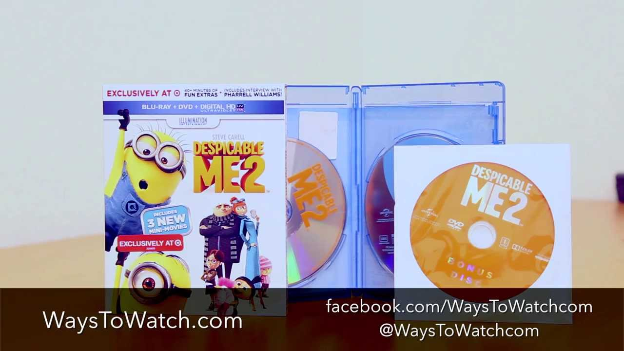 Despicable Me 2 Blu-ray, DVD and Digital Unboxing