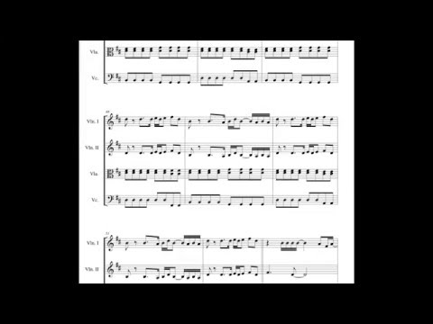 WAKE ME UP (Avicii) SHEET music for STRING quartet !
