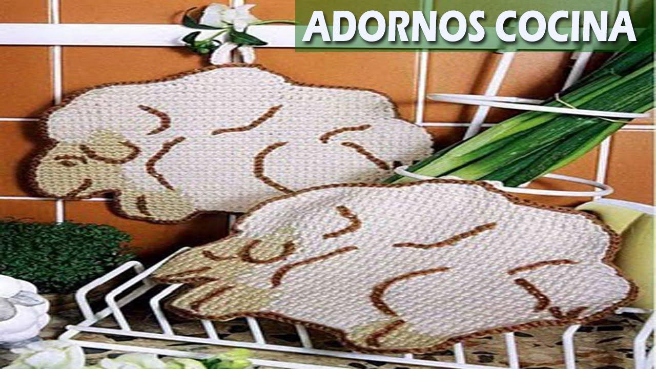 Adornos Cocina - Tejidos a crochet - YouTube