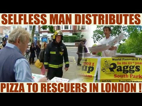 London Parson Green: Man distributes free pizza to officials engaged in rescue | Oneindia News