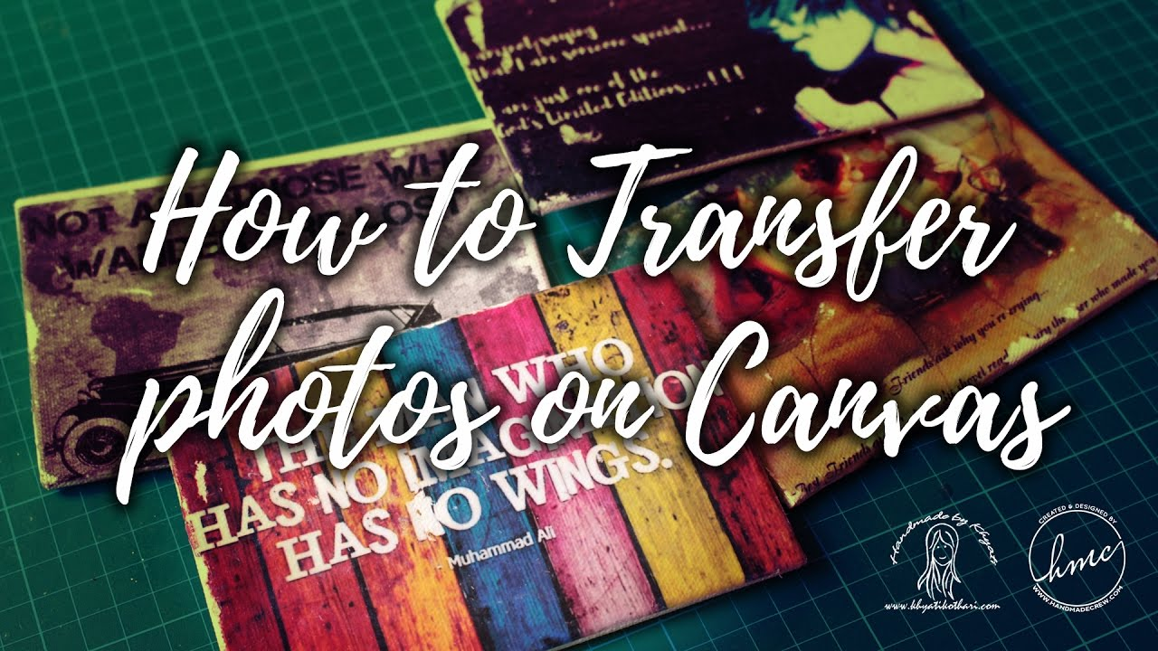 How to Photo Transfer On Canvas easily [DIY Video Tutorial ...