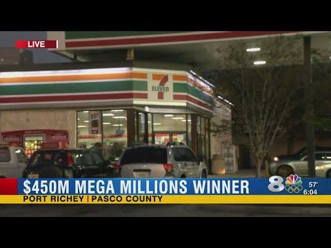 $450 million jackpot Mega Millions ticket sold in Port Richey