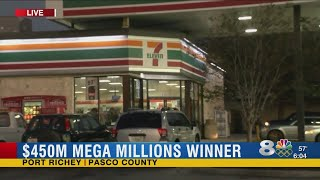 $450 million jackpot Mega Millions ticket sold in Port Richey