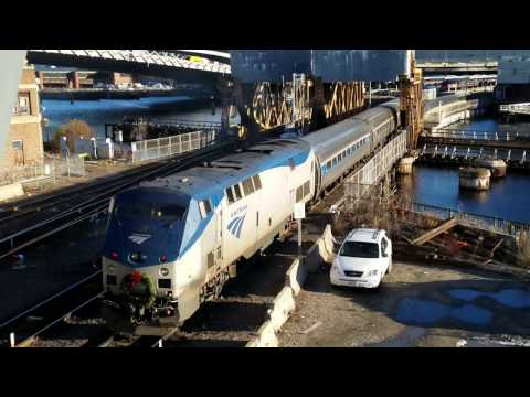 Railfanning Boston North Station with Races, Meets, MP36, and More!