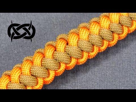 How to make a Two (2) Color Zipper Sinnet Paracord Bracelet