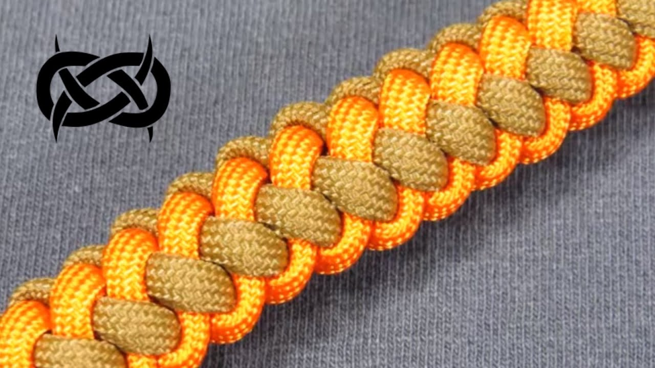 How To Make A Two 2 Color Zipper Sinnet Paracord