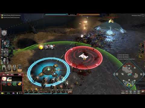 Dawn of War 3 Faction War 3v3 Raven Guard SM vs BadMoons Orc