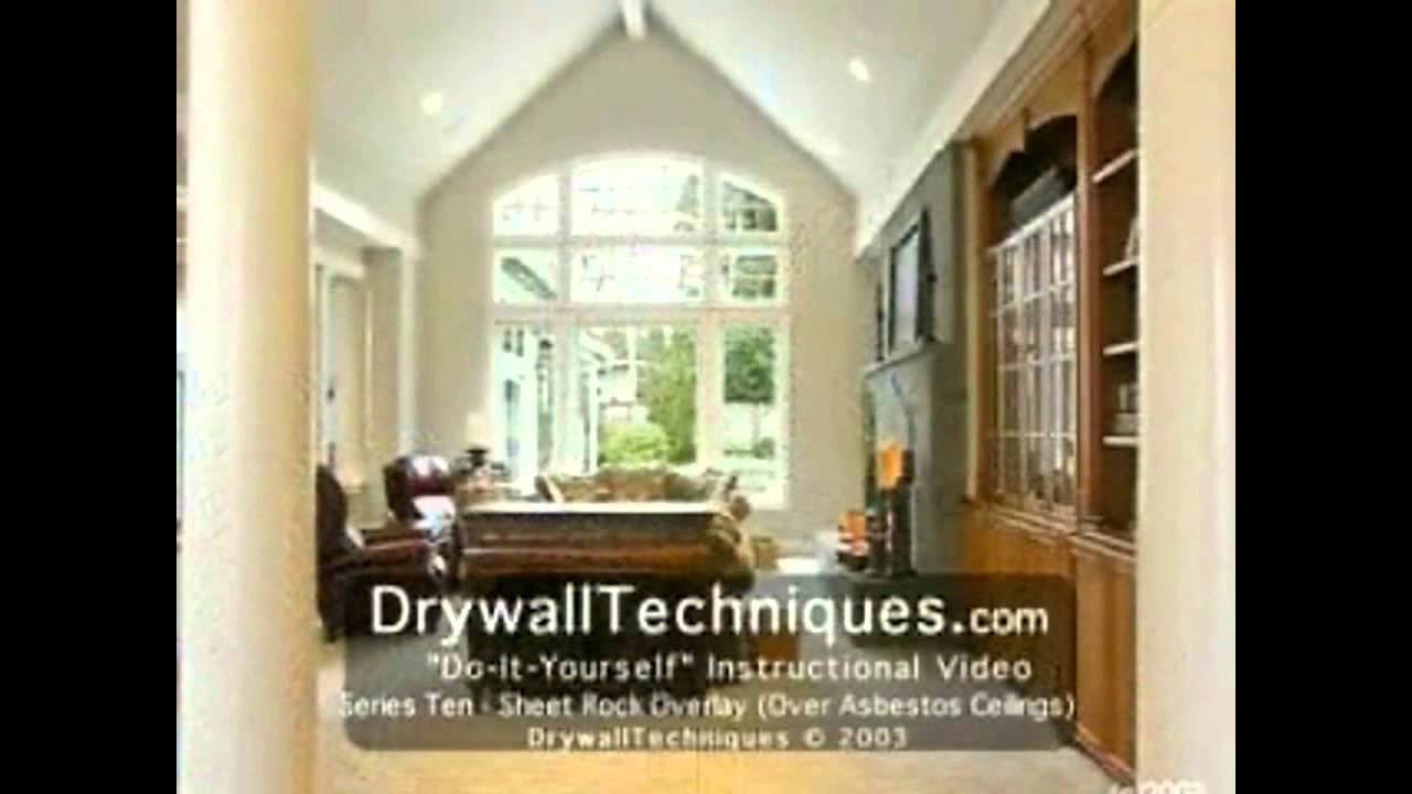 Drywall Techniques Com Drywall Overlay Over Asbestos