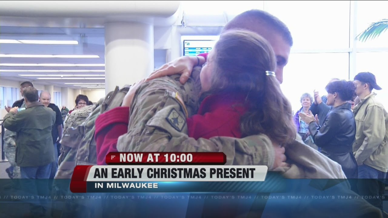 Families of forty soldiers get an early Christmas gift - YouTube