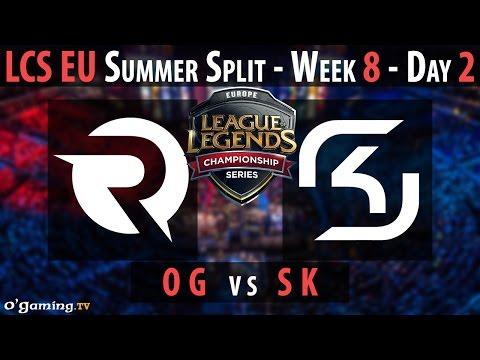 Origen vs SK Gaming - LCS EU 2015 - Summer Split - Week 8 - Day 2 - OG vs SK [FR]