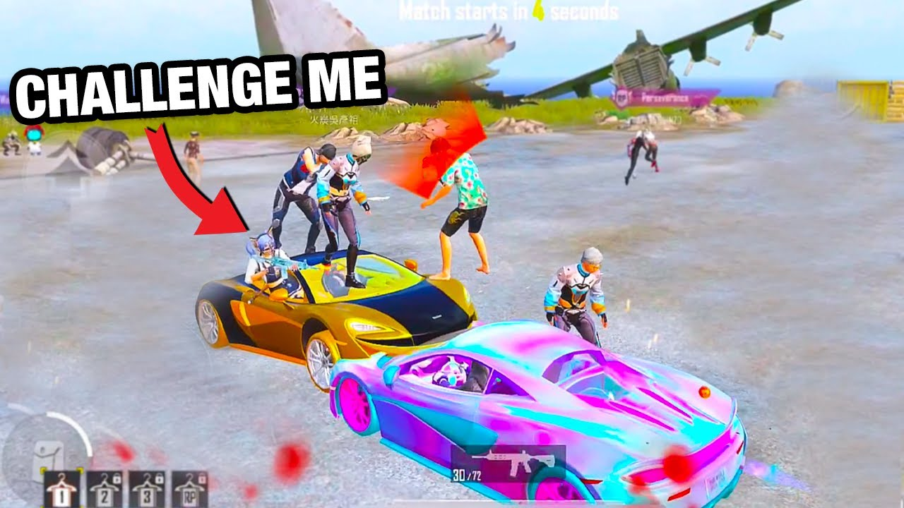 He Challenged Me with MCLaren | SOLO vs SQUAD PUBG MOBILE