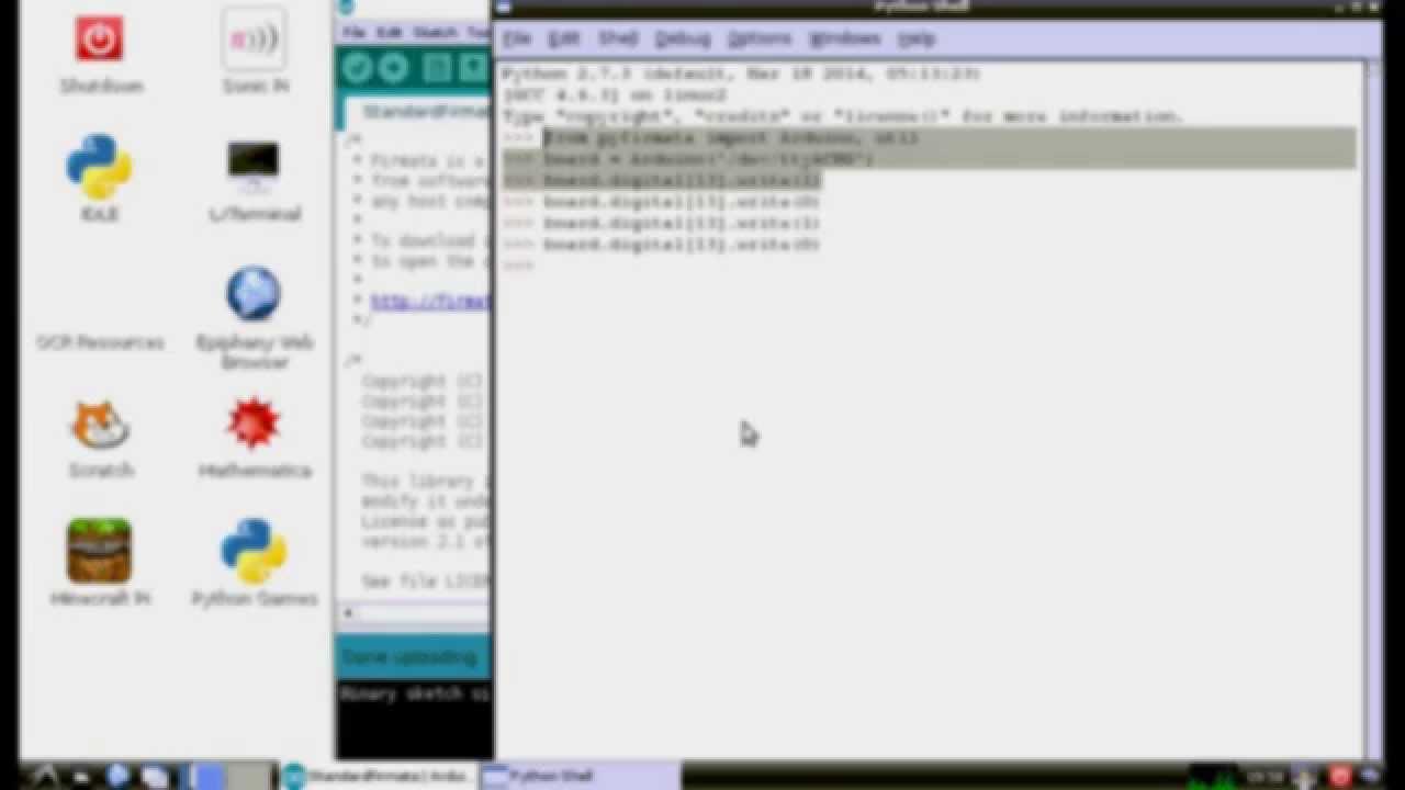 Arduino-er: Firmata + Python/pyFirmata, control Arduino from