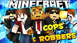 Minecraft COPS AND ROBBERS w/ Team Crafted (REUNION) | JeromeASF