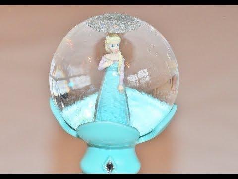 ELSA FROZEN Musical Snow Wand Globe - Singing Elsa Doll
