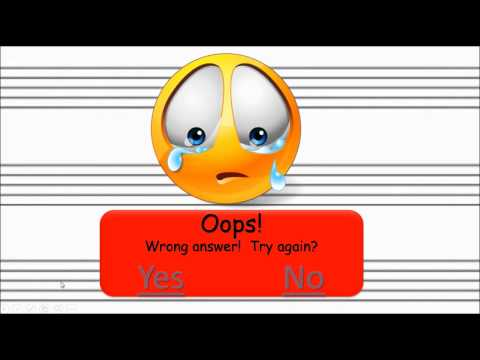 Interactive Music Game: Ledger lines practice (Treble Clef)