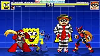 SpongeBob SquarePants And Mega Man Characters VS Hamburglar In A MUGEN Match / Battle / Fight