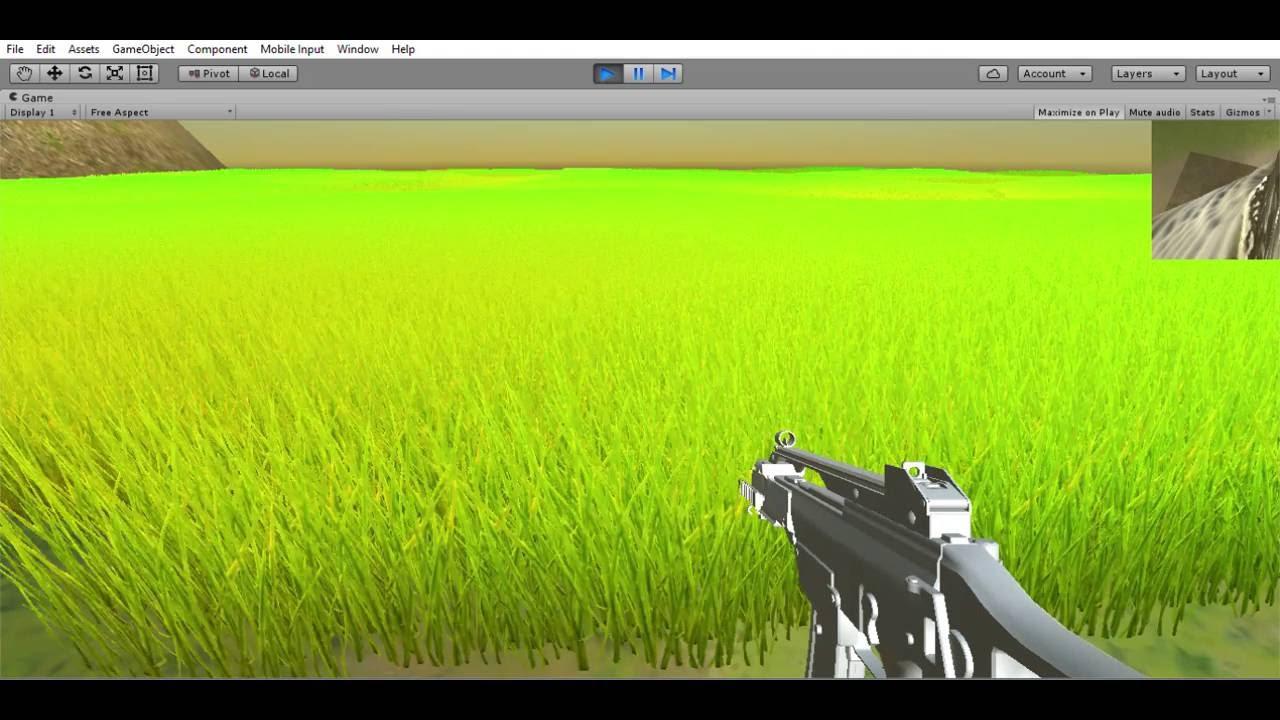 Unity 3d Rendering Grass