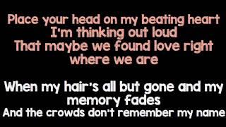 Thinking Out Loud Ed Sheeran Karaoke Female Version
