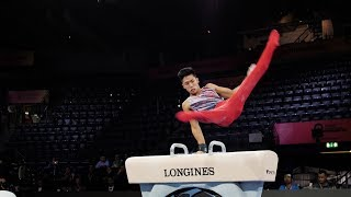 Yul Moldauer (USA) PH 2019 Worlds Stuttgart - Podium Training