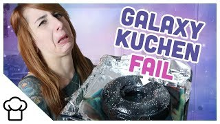 DIY Galaxy Mirror Cake 2.0 // FAIL // Kupferfuchs Küchenchaos