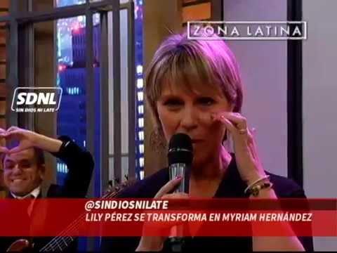 Lily Pérez se transforma en Myriam Hernández: Sin Dios Ni Late // Zona Latina