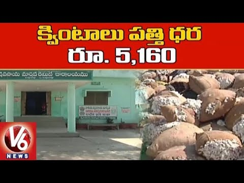 Cotton Price Touches All Time Record in Peddapalli Market | V6 News